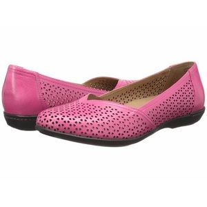 Dansko Neely Perforated Flats in Pink size 42